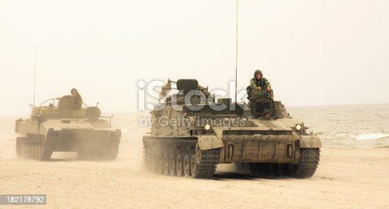 istock Tanks convoy 182178792