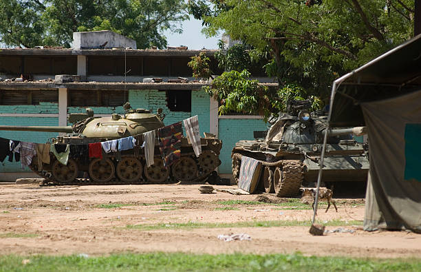 tanks in sudan - sudan stock photos and pictures
