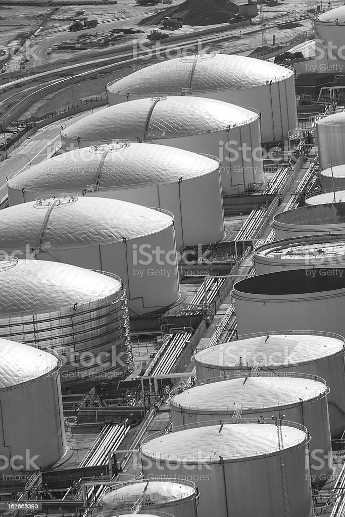 Tanks of liquid storage royalty-free stock photo