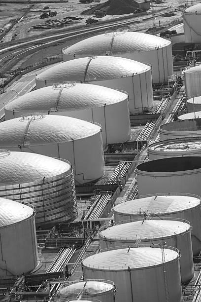 Tanks of liquid storage stock photo