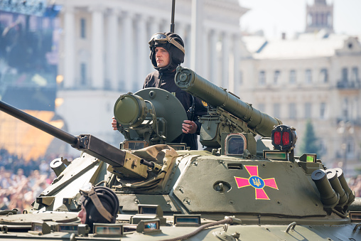 istock Tanks on military parade in Kiev, Ukraine 1071479984
