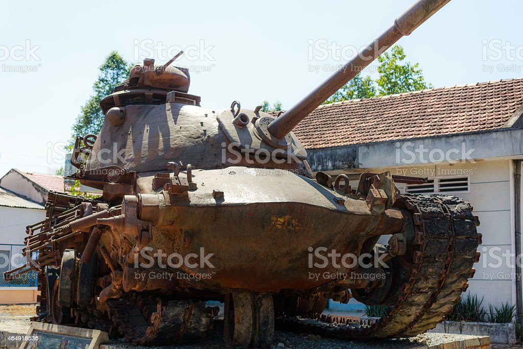 Tank-War Remnants stock photo