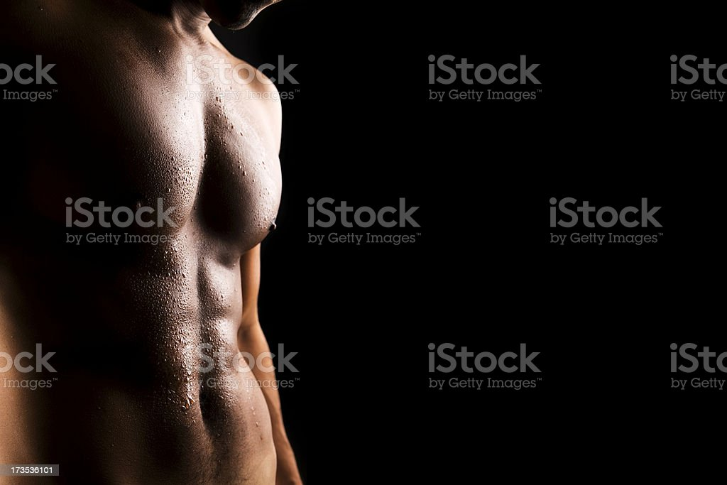 Tanned Body royalty-free stock photo