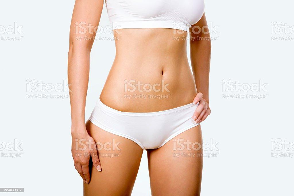 Gebräunten weiblichen Körper – Foto