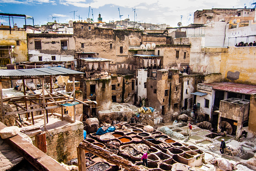 tanneries at fez medieval old city in morocco a muslim country with picture id1032718048?k=6&m=1032718048&s=170667a&w=0&h=Fu kI4rkUSEqO qzAzcAD3Se6nVqWwGJAGHbCuchg38=