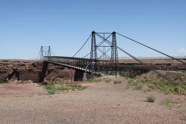 Tanner's Crossing Bridge stock photo