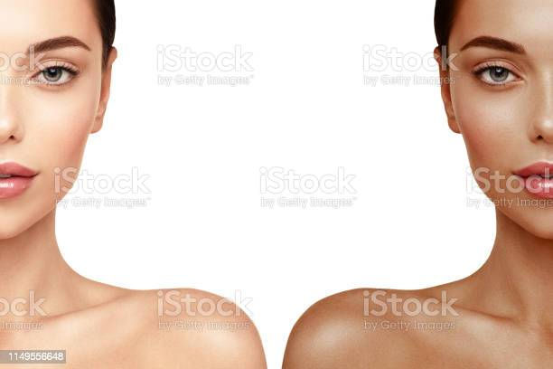 Tanning skin face portrait woman before and after tan spray picture id1149556648?b=1&k=6&m=1149556648&s=612x612&h=ltpgw7eugvzqz3cav4rrap3 9cqnfla tzcny7wowyo=