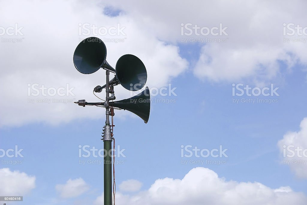 tannoy speakers and blue sky royalty-free stock photo
