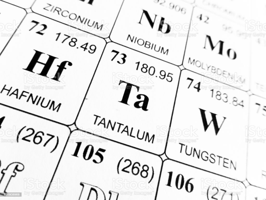 Tantalum On The Periodic Table Of The Elements Stock Photo More