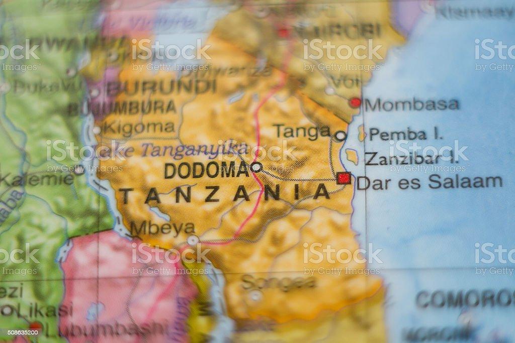 Tanzania country map . stock photo