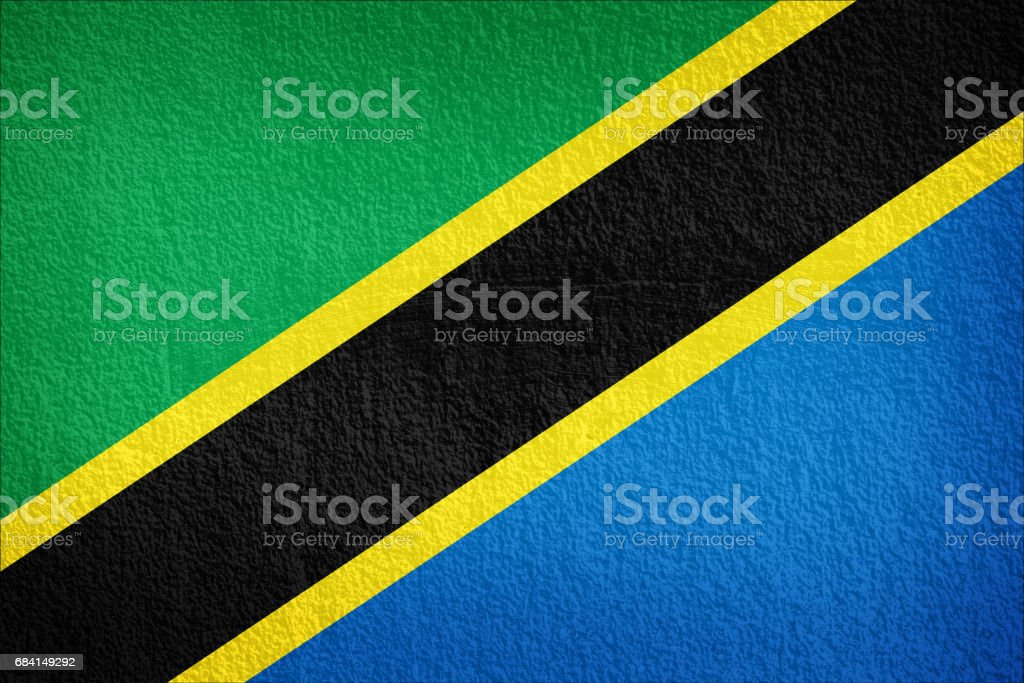 Tanzania Flag painted on grunge wall royalty free stockfoto