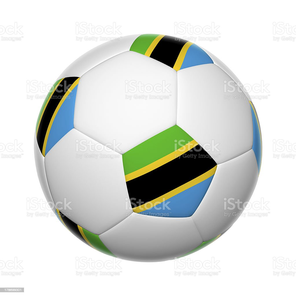 Tanzania soccer ball stock photo