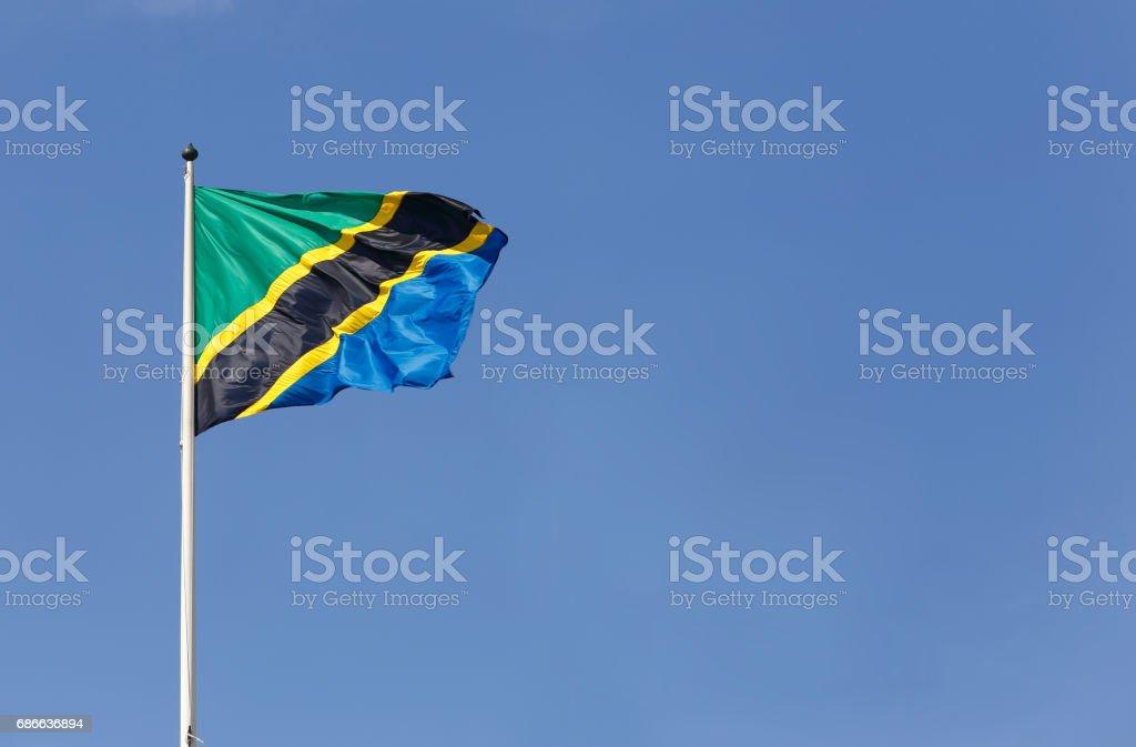 Tanzanian flag royalty-free stock photo