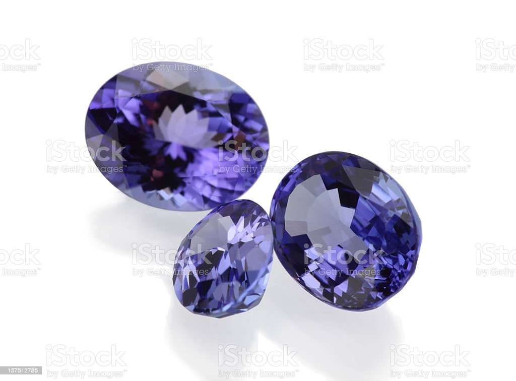 Tanzanite Stone royalty-free stock photo