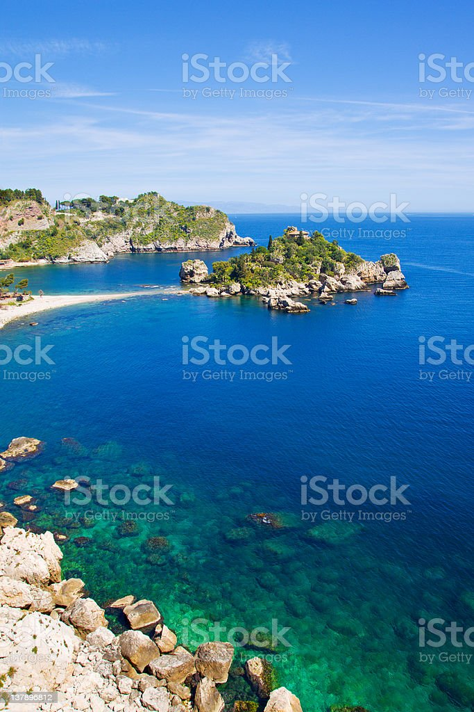Taormina Beach, stock photo