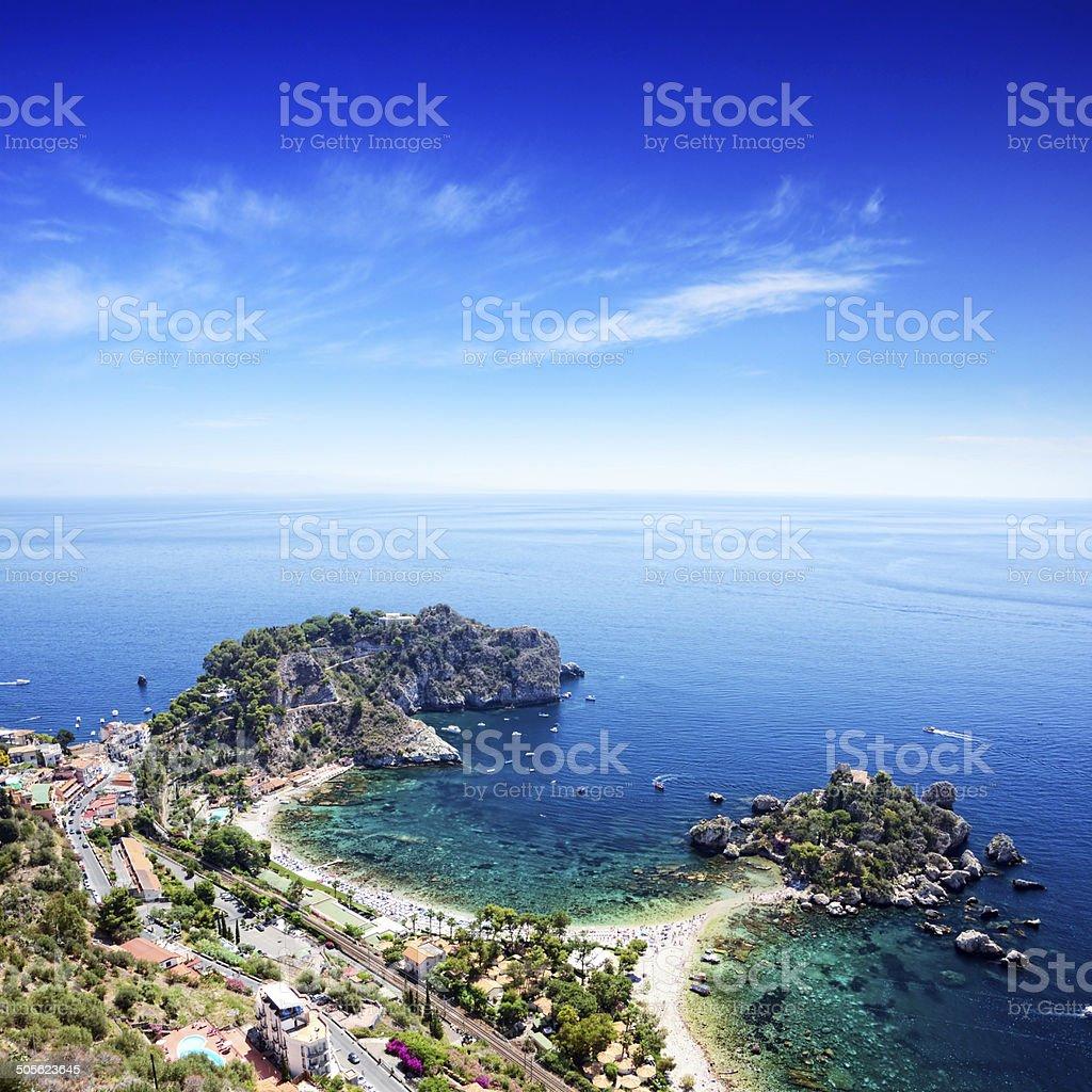 Taormina Beach, Sicily stock photo