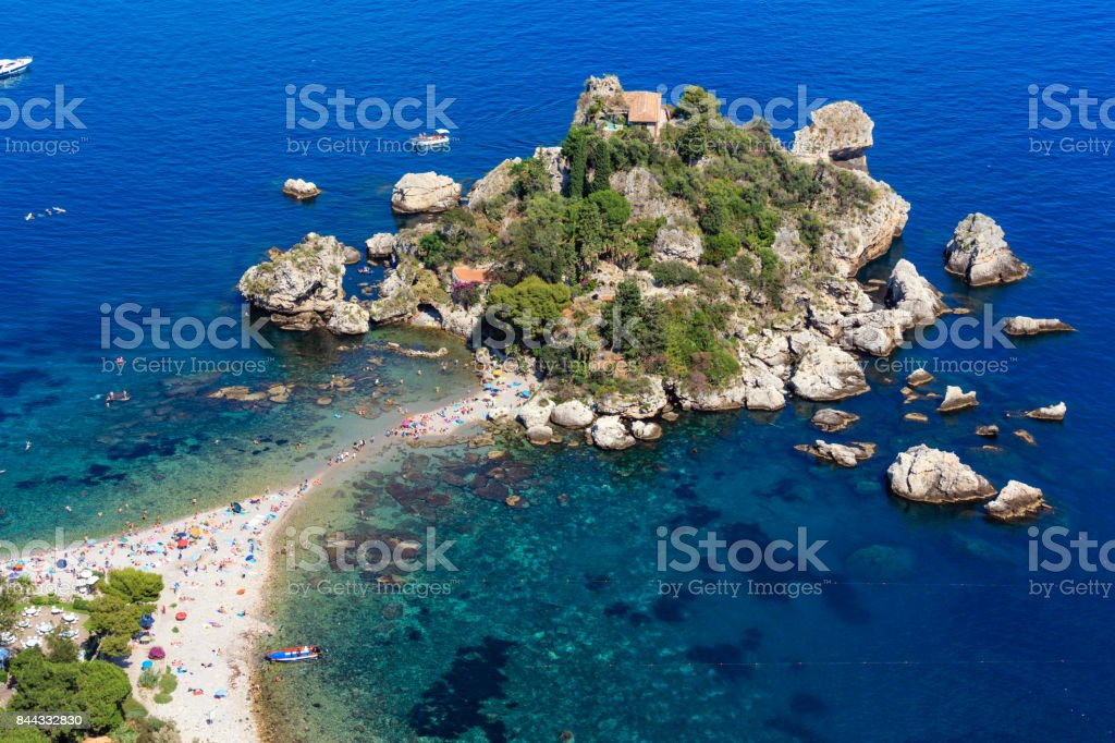 Insel Isola Bella Taormina, Sizilien – Foto