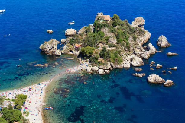 陶爾米納伊索貝拉胰島西西里島 - 陶爾米納 個照片及圖片檔