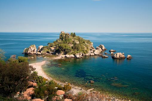 Taormina, Isola Bella. Sicily, Italy