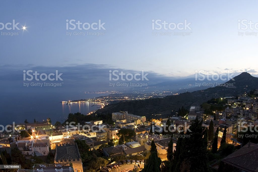 Taormina Landscape, Sicily stock photo
