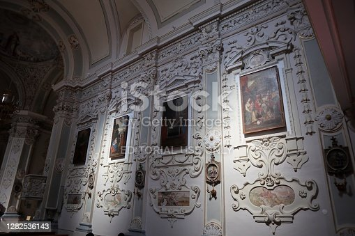 istock Taormina - Right wall of the Church of San Giuseppe 1282536143