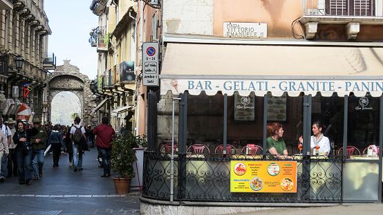 Taormina Auf Sizilien Italien Stockfoto und mehr Bilder von Architektur