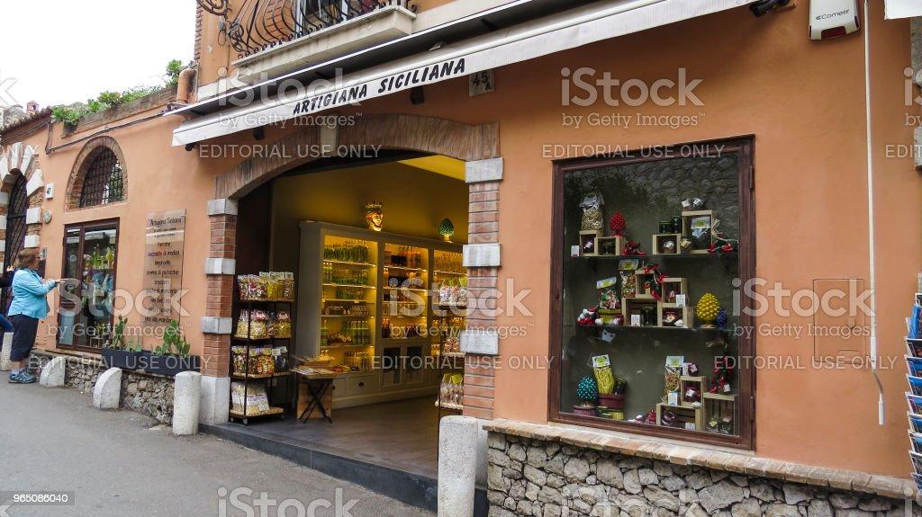 Taormina, Sicily, Italy zbiór zdjęć royalty-free
