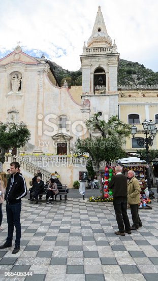 Taormina Sicily Italy - zdjęcia stockowe i więcej obrazów Architektura