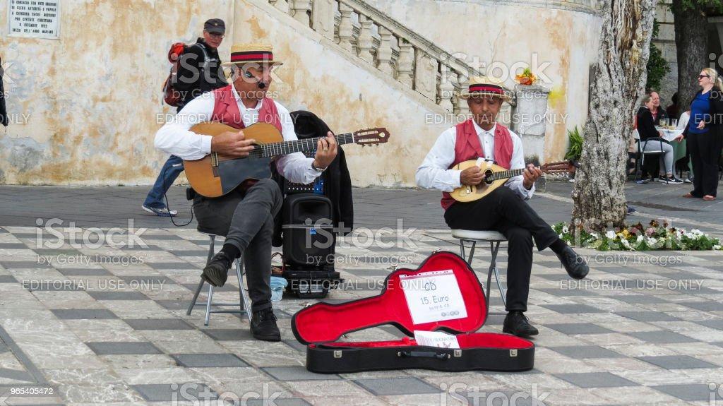 타오미나, Sicily, 이탈리아 - 로열티 프리 가수 스톡 사진