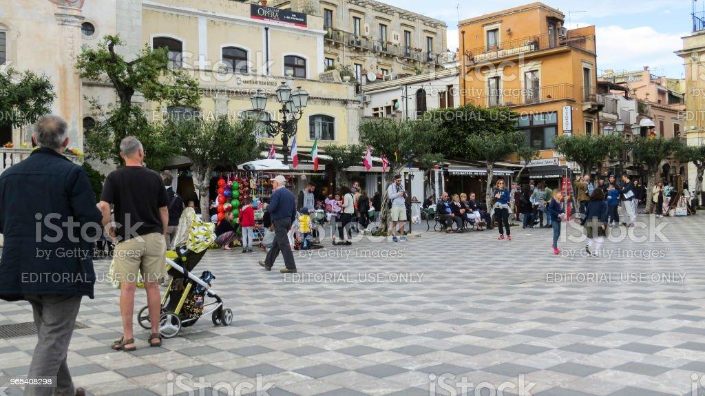 타오미나, Sicily, 이탈리아 - 로열티 프리 0명 스톡 사진