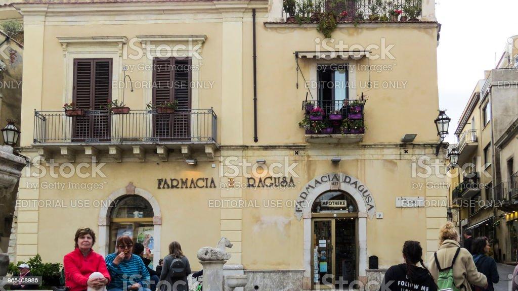 Taormina, en Sicile, en Italie - Photo de Architecture libre de droits