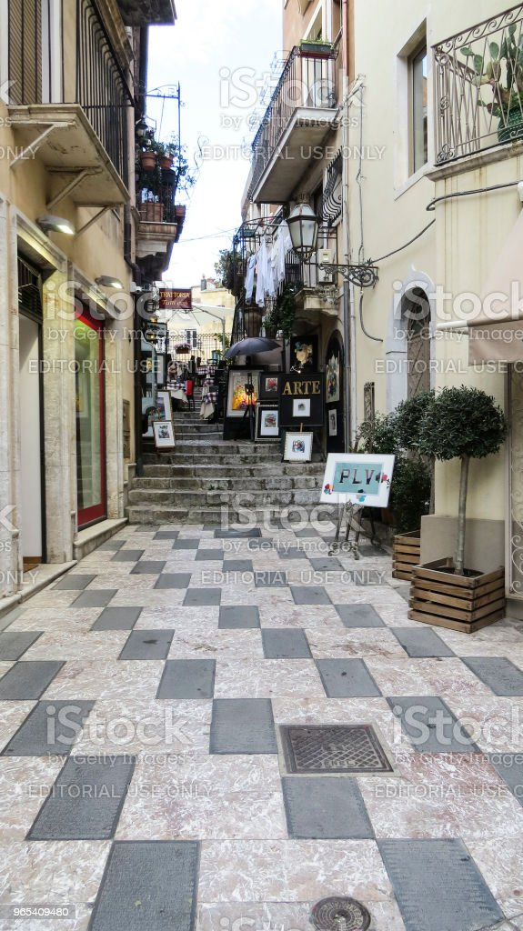 Taormina, en Sicile, en Italie - Photo de Architecture libre de droits