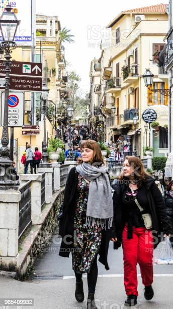 타오미나 Sicily 이탈리아 0명에 대한 스톡 사진 및 기타 이미지