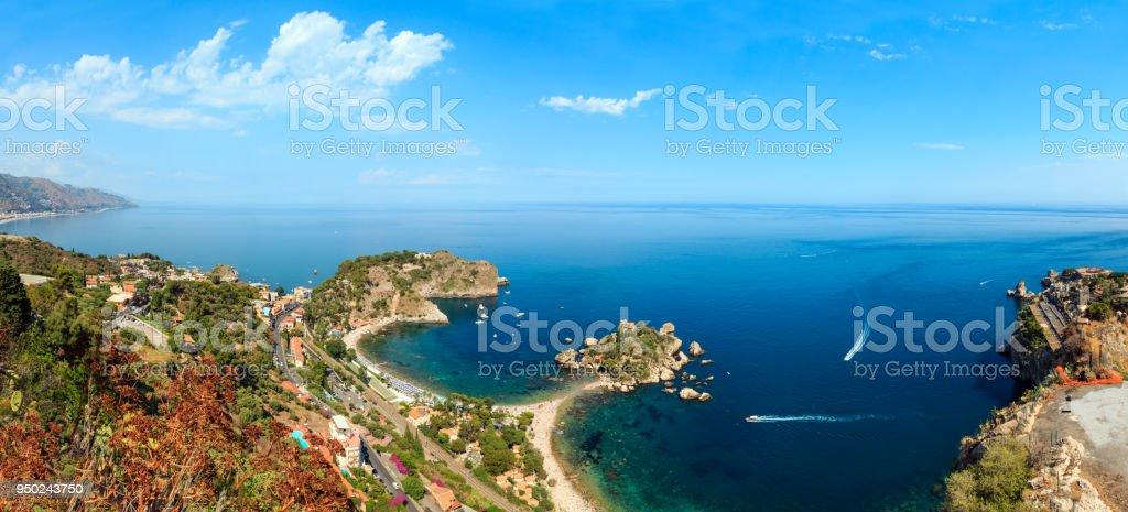 Taormina-Blick von oben, Sizilien. – Foto