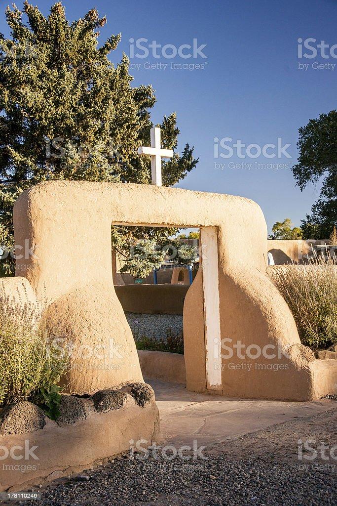 Taos Church at Dawn royalty-free stock photo