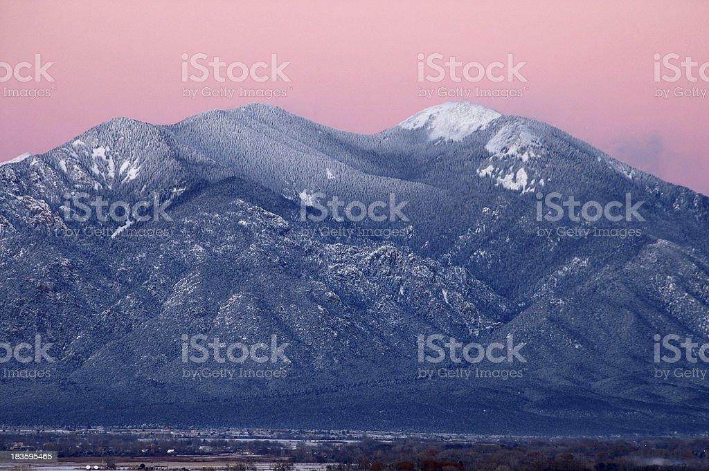 Taos Mountain After Sunset stock photo