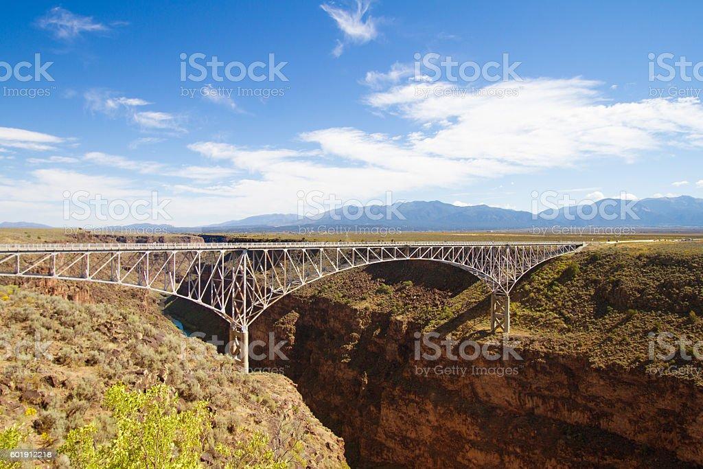 Taos, NM: Rio Grande Gorge Bridge stock photo