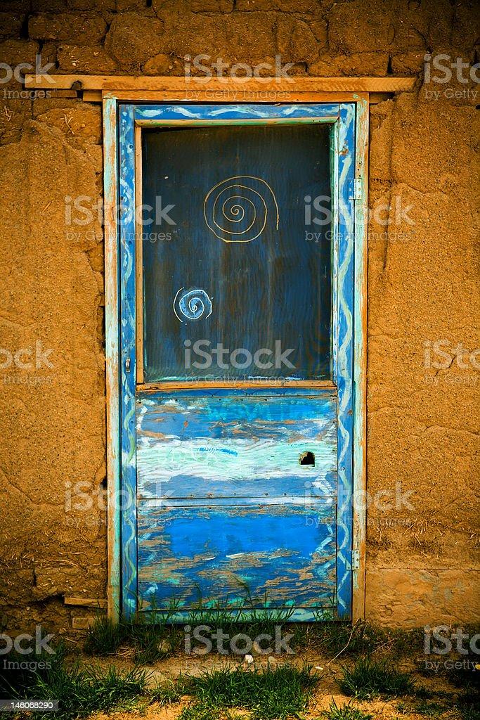 Taos Pueblo Door royalty-free stock photo