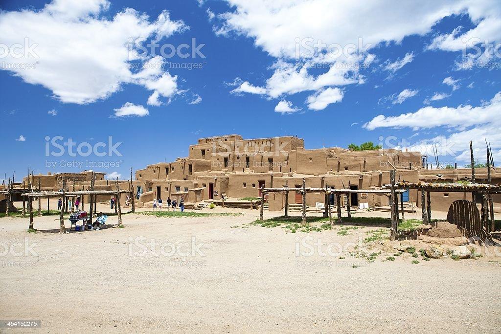 Taos Pueblo new mexico america stock photo