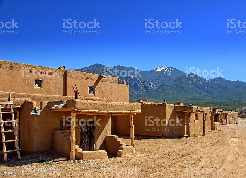 Taos Pueblo stock photo