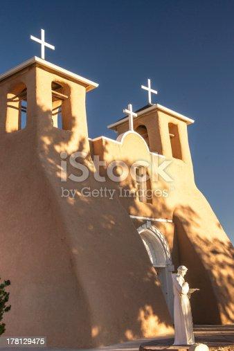 Sunrise at San Francisco de Asis church in Taos New Mexico
