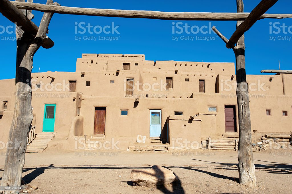 Taos Pueblo stock photo
