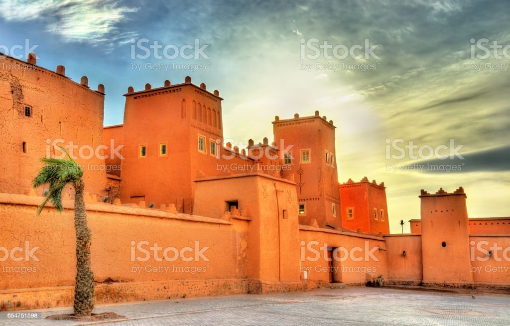Taourirt Kasbah in Ouarzazate, Morocco stock photo