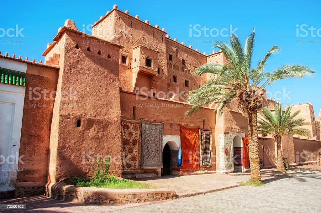 Taourirt Kasbah in Ouarzazate stock photo