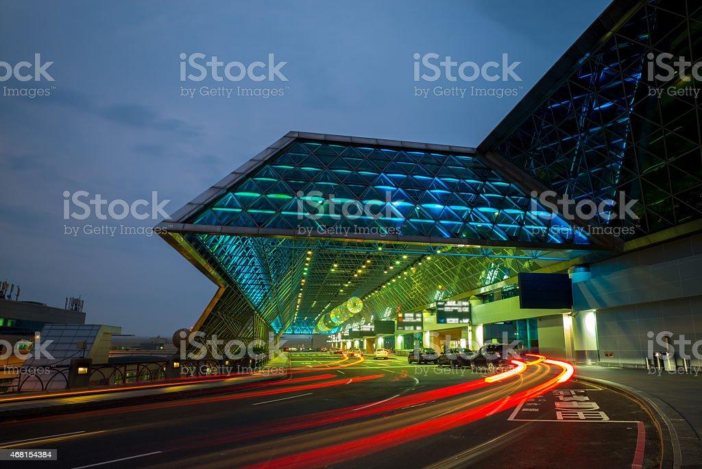 Taoyuan airport stock photo