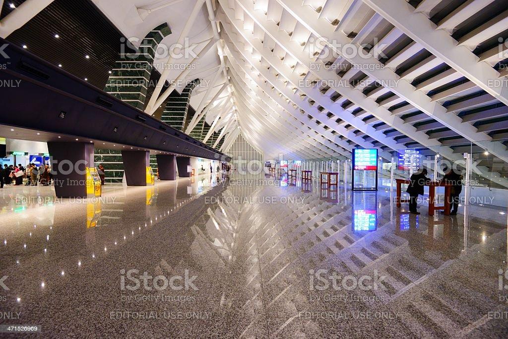 Taoyuan International Airport in Taipei, Taiwan stock photo