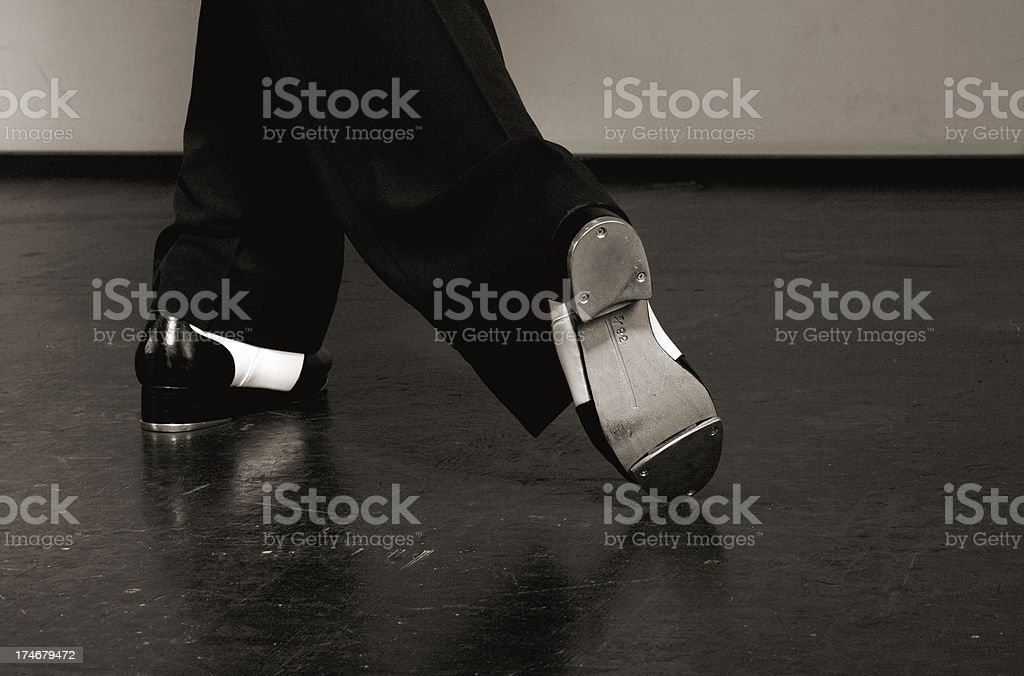 Tap dance step stock photo