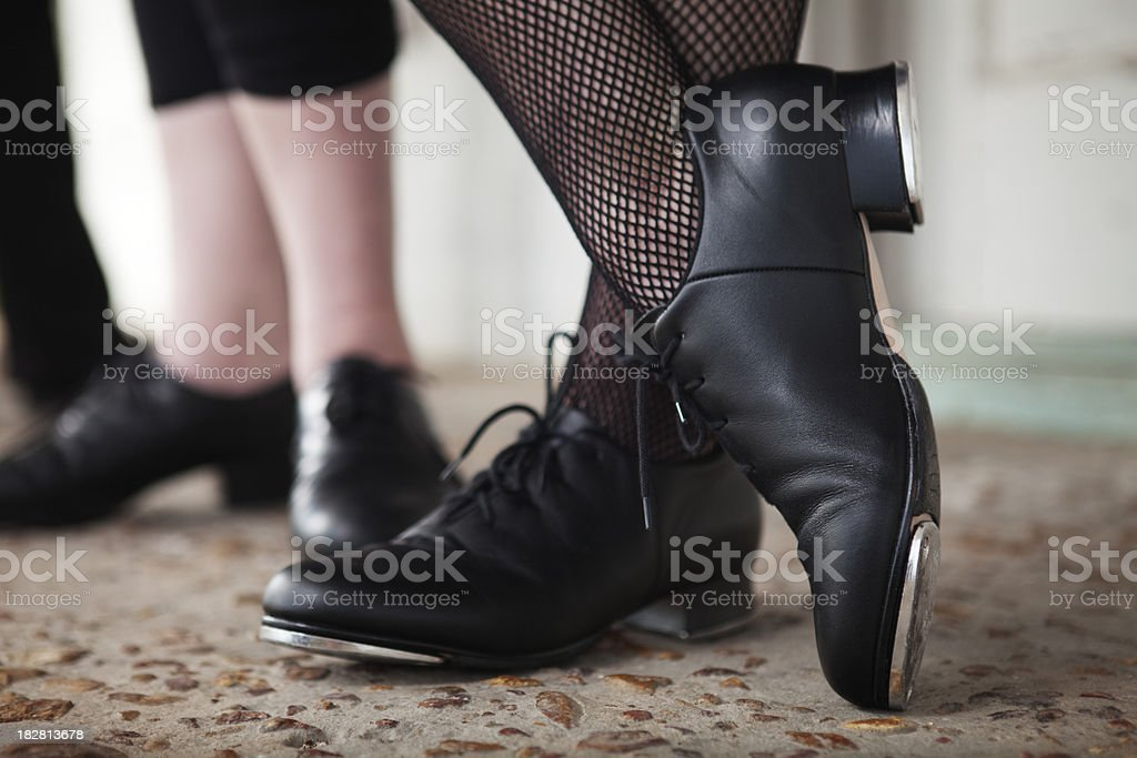 Tap dancing shoes stock photo