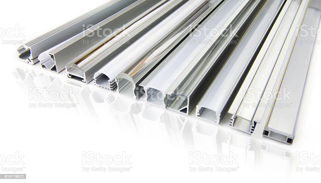 Tap light aluminium profile stock photo