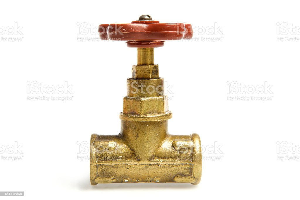Tap on pipe royalty-free stock photo